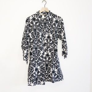 Tommy Bahama Black and White Paisley Dress